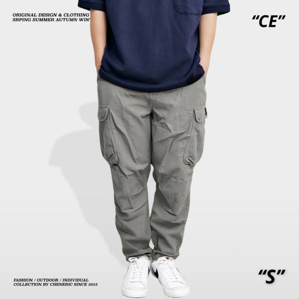 【竹節棉工作褲】錐形純棉親膚上寬下窄 淺灰綠 錐形,上寬下窄,工作褲,竹節棉,cheneric,esc select,hy select,goopi,jks