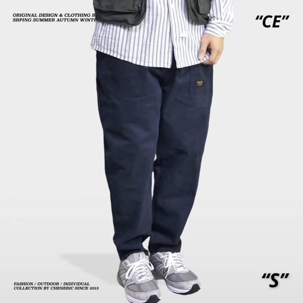 【小直筒錐形工作褲】上寬下窄 深藍 錐形,上寬下窄,工作褲,cheneric,esc select,hy select,goopi,jks