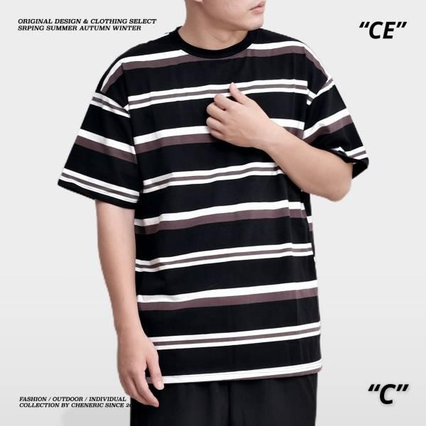 ★OUTLET★【Stripe條紋TEE】 日系短袖 黑咖白 outdoor,短T,日系,條紋,cheneric,esc select,hy select,goopi,jks