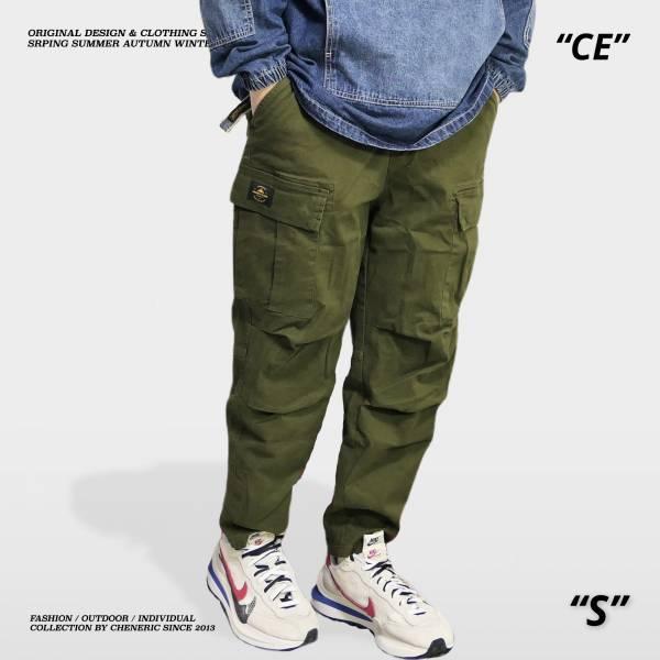【多口袋工作褲3.0】六口袋彈性立體上寬下窄 軍綠 錐形,上寬下窄,工作褲,六口袋,cheneric,esc select,hy select,goopi,jks