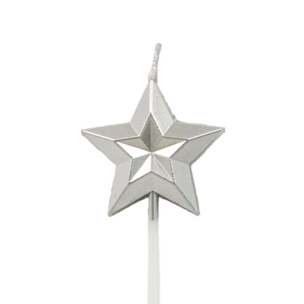 質感銀色星星蠟燭