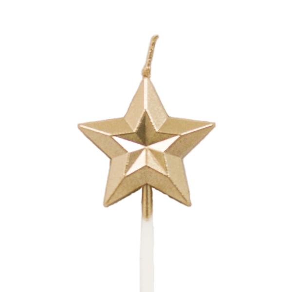 質感金色星星蠟燭