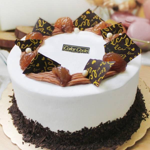 鮮奶油栗子蛋糕-8吋 歐牧鮮奶油栗子蛋糕,鮮奶油,栗子,慶生,長輩生日蛋糕,台北人氣蛋糕,生日蛋糕,網購蛋糕,蛋糕推薦,長輩生日蛋糕推薦