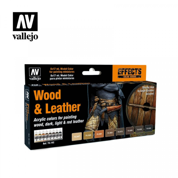西班牙 Acrylicos Vallejo AV水漆 模型色彩 Model Color 木頭&皮革套組 Wood & Leather (8) By Angel Giraldez AV水漆,Acrylicos Vallejo,保護漆