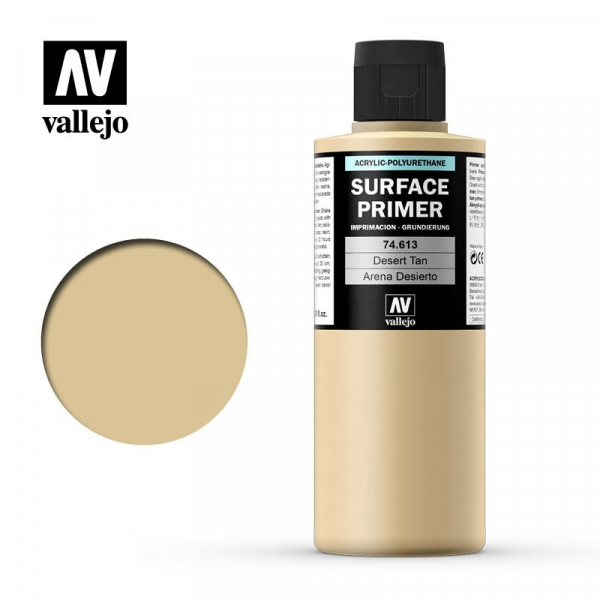 西班牙 Acrylicos Vallejo AV水漆 表面底漆 Surface 沙漠黃褐色 Primer Desert Tan Base AV水漆,Acrylicos Vallejo,保護漆
