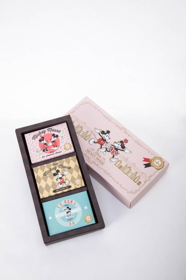 蜂王黑砂糖香皂禮盒 米奇90周年限量款 米奇米妮牽手