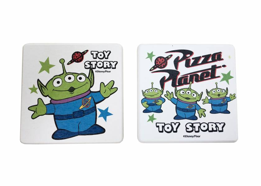 玩具總動員硅藻土2入皂盤組-三眼怪&披薩星球