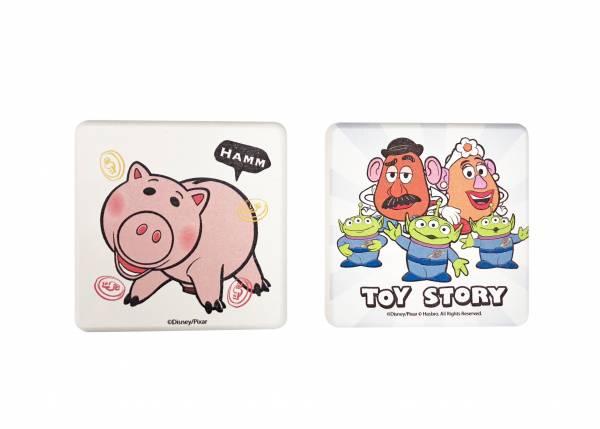 玩具總動員珪藻土2入皂盤組-三眼怪+蛋 頭夫婦&火腿豬