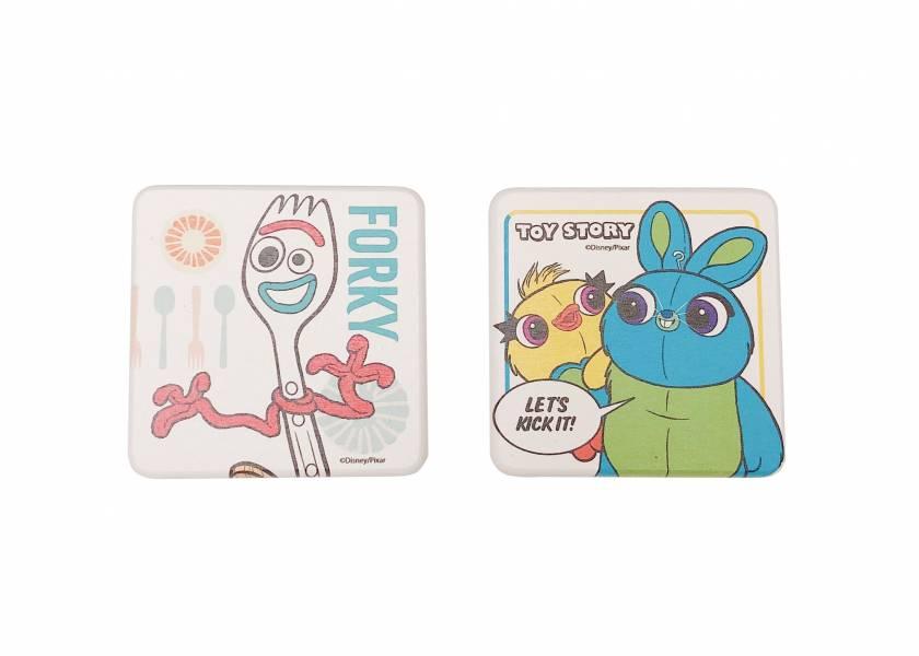 玩具總動員硅藻土2入皂盤組-叉奇&小黃鴨野兔