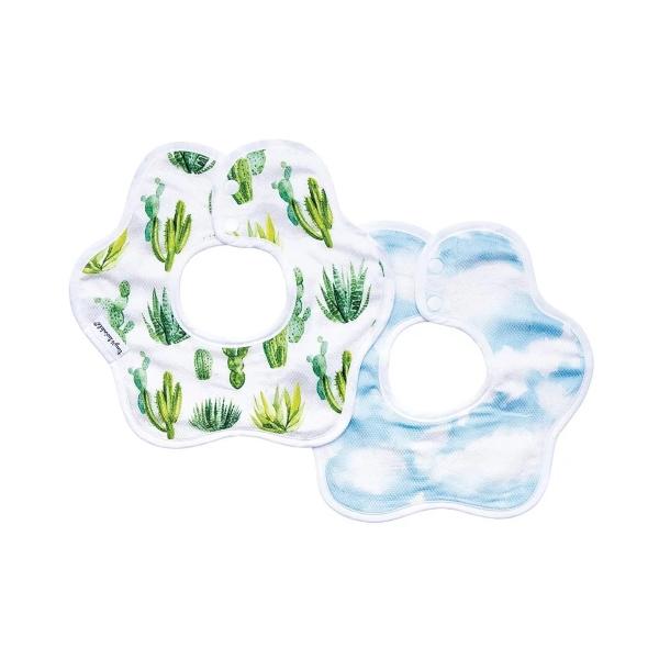 Tiny Twinkle 花型圍兜 (2入)|大自然 tiny twinkle,咬咬兜,圍兜,口水巾Tiny Twinkle圍兜,花型圍兜,防水圍兜 ,marlmarl,360度圍兜