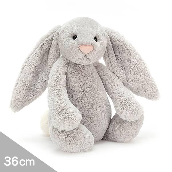 Jellycat安撫玩偶兔36cm|雲灰銀