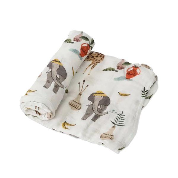 Little Unicorn竹纖維紗布巾單入組-動物園