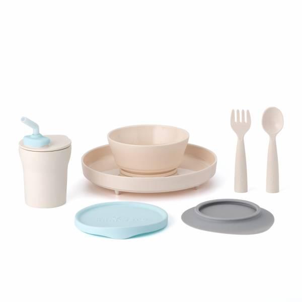 Miniware 天然聚乳酸兒童學習餐具 小食客六入組 香草薄荷 學習餐具,1歲寶寶,時尚寶寶學習餐具,兒童餐具,矽膠餐具