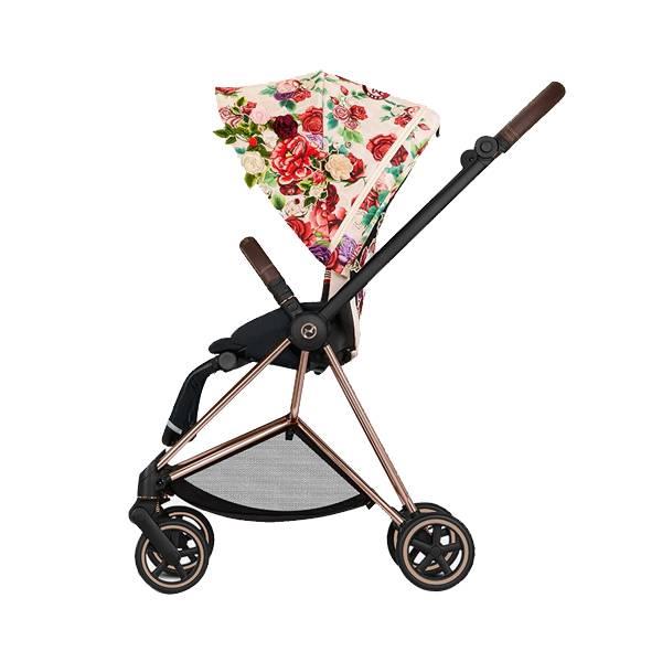 Cybex Mios嬰幼兒手推車-設計師款 單手收折,雙向推車,玫瑰金