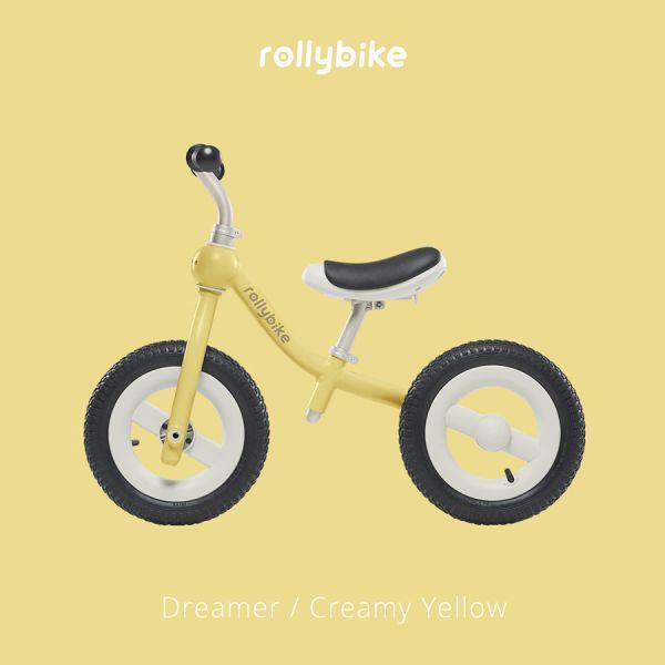 Rollybike二合一滑步車-奶油黃 滑步車推薦,velo滑步車,rollybike,平衡車,