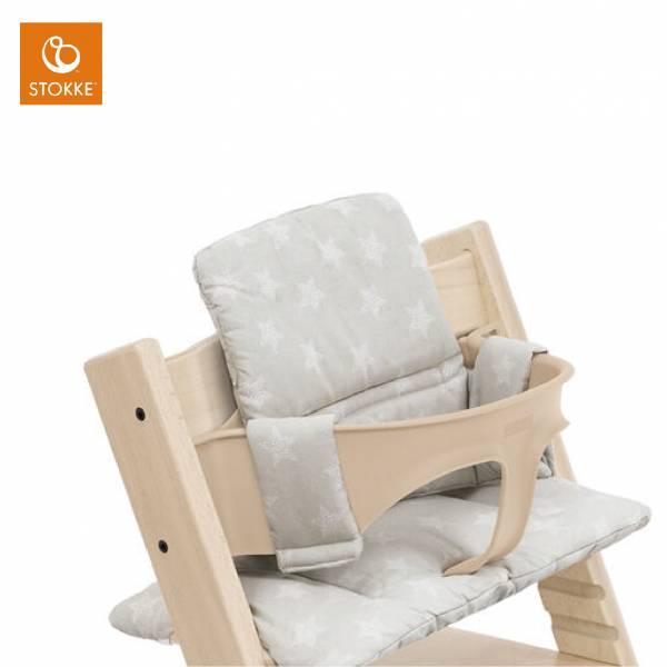 Stokke Tripp Trapp成長椅座墊(嬰幼兒款)|銀色星星 Stokke,stokke餐椅,stokke成長椅,Tripp Trapp成長椅,nomi,座墊,坐墊