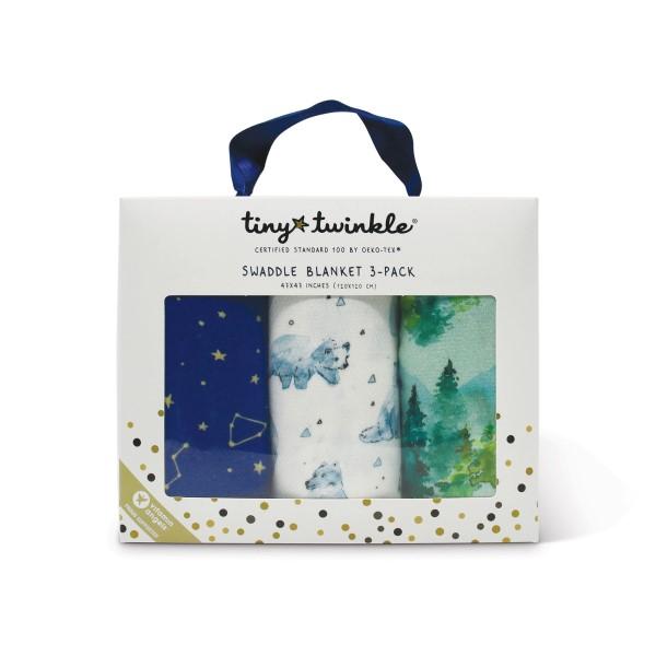 Tiny Twinkle紗布巾(3入)|生態 tiny twinkle,紗布巾,包巾,嬰兒包巾,嬰兒被毯,推車罩