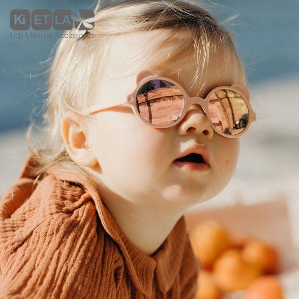 Ki ET LA-OurS'on萌貝熊幼兒太陽眼鏡|蜜桃粉 Ki ET LA,kietla兒童太陽眼鏡,太陽眼鏡,幼兒太陽眼鏡,防曬,抗UV眼鏡,嬰兒防曬