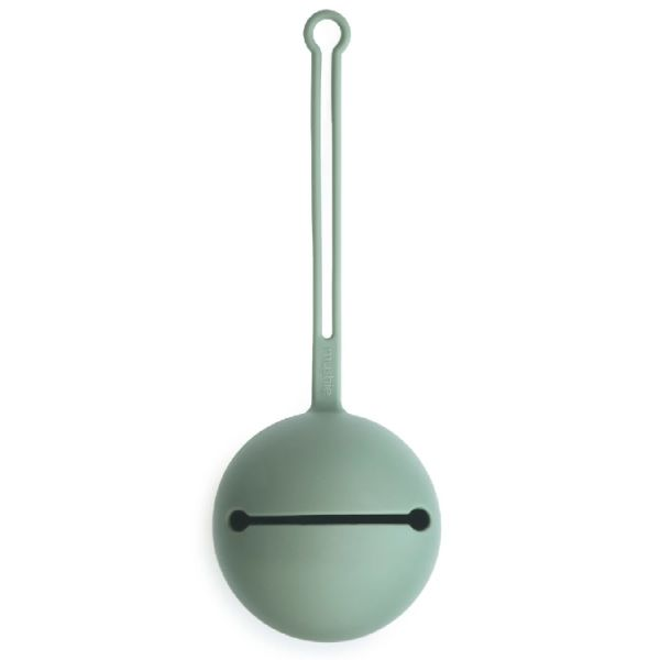 Mushie矽膠奶嘴盒-劍橋藍  Mushie,奶嘴收納盒