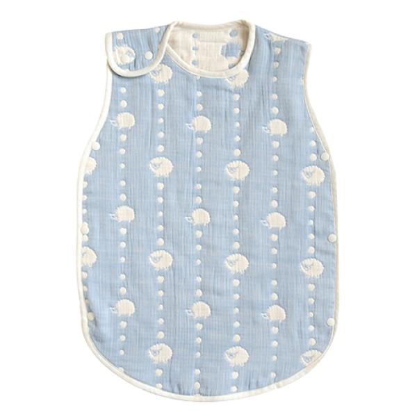 Hoppetta六層紗可愛動物防踢背心|嬰童版 藍色
