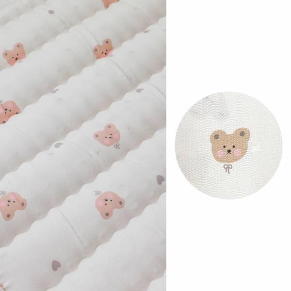 Bebenuvo輕透涼感床墊|甜心熊熊 推車涼墊,推車透氣墊