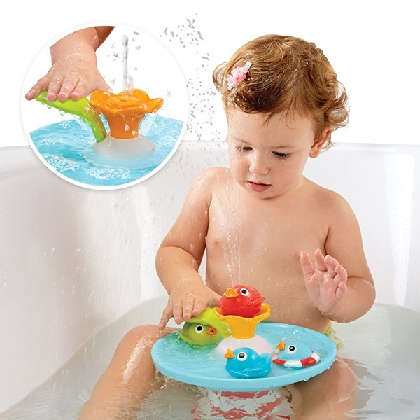 Yookidoo魔法小鴨噴泉 洗澡玩具,戲水玩具,安撫玩具,Yookidoo,洗澡玩具收納