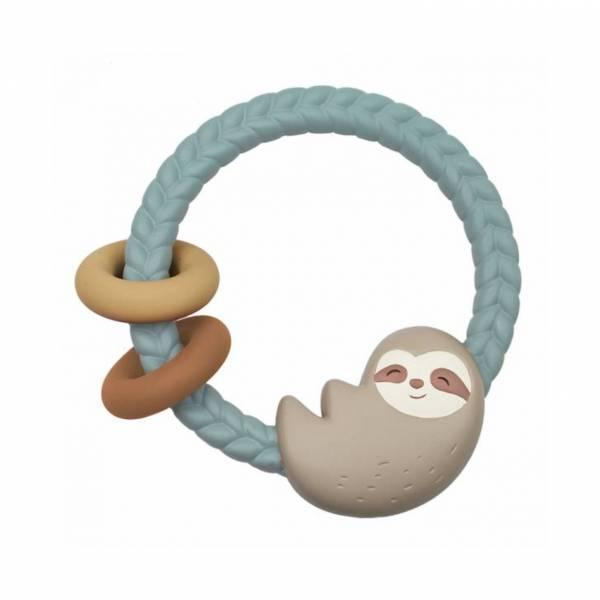 Itzy Ritzy矽膠搖鈴固齒環|微笑樹懶 Itzy Ritzy,Itzy Ritzy固齒器,固齒器推薦,冰涼固齒器,防吃手,嬰兒手套