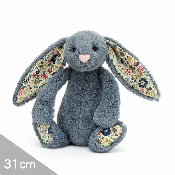 Jellycat安撫玩偶兔31cm|碎花莫蘭迪藍