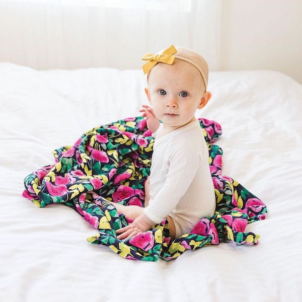 Tiny Twinkle 紗布巾|牡丹 tiny twinkle,紗布巾,包巾,嬰兒包巾,嬰兒被毯,推車罩