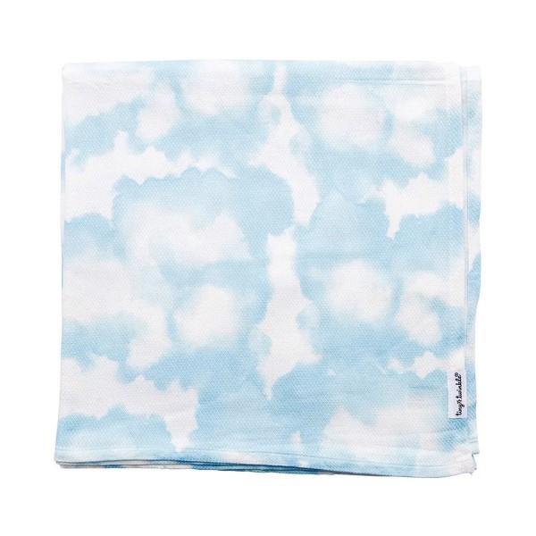 Tiny Twinkle 紗布巾|藍天 tiny twinkle,紗布巾,包巾,嬰兒包巾,嬰兒被毯,推車罩