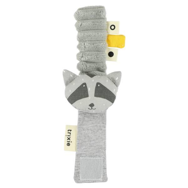 Trixie動物造型寶寶手腕搖鈴|害羞浣熊