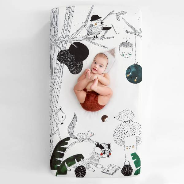 Rookie Humans嬰兒床純棉絲柔床包|森精靈之夢