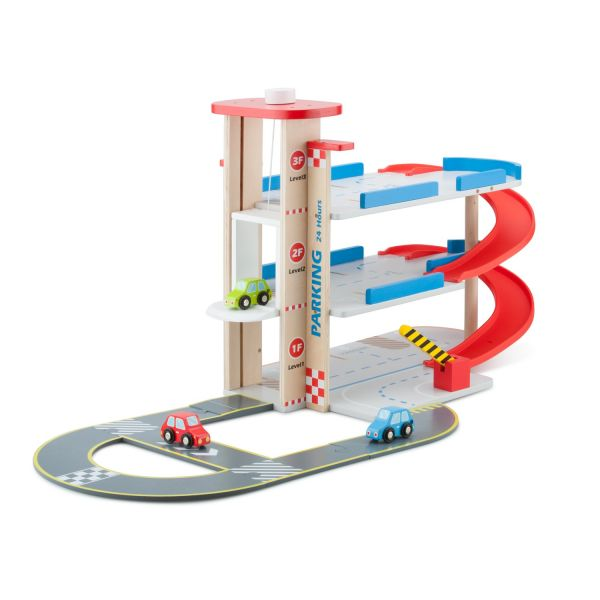New Classic Toys木製立體停車場玩具