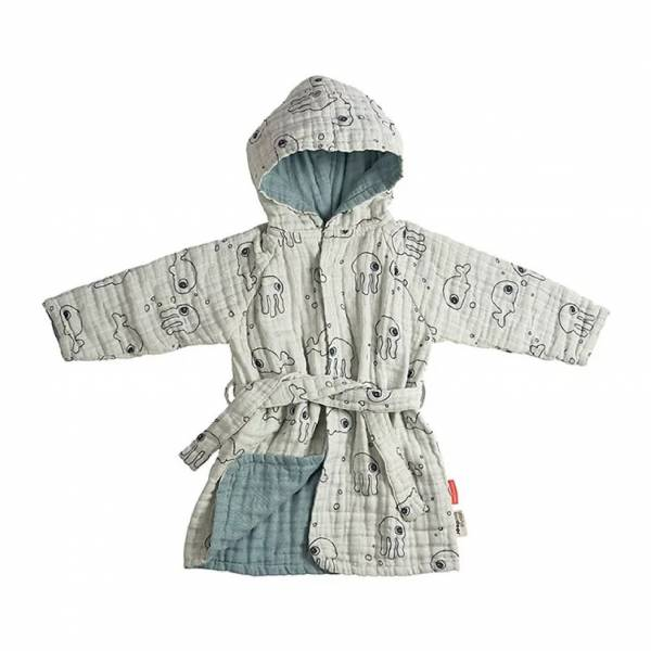Done By Deer兒童連帽浴袍 | 藍色 浴巾,毛巾,連帽浴巾