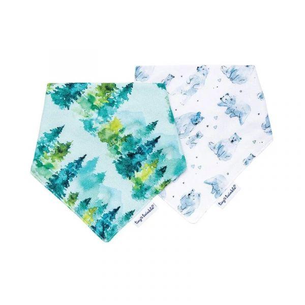 Tiny Twinkle 領巾圍兜 (2入) 森林生態 tiny twinkle,咬咬兜,圍兜,口水巾Tiny Twinkle圍兜,花型圍兜,防水圍兜