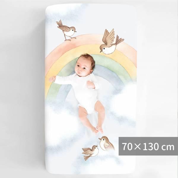 Rookie Humans嬰兒床純棉絲柔床包|彩虹小鳥