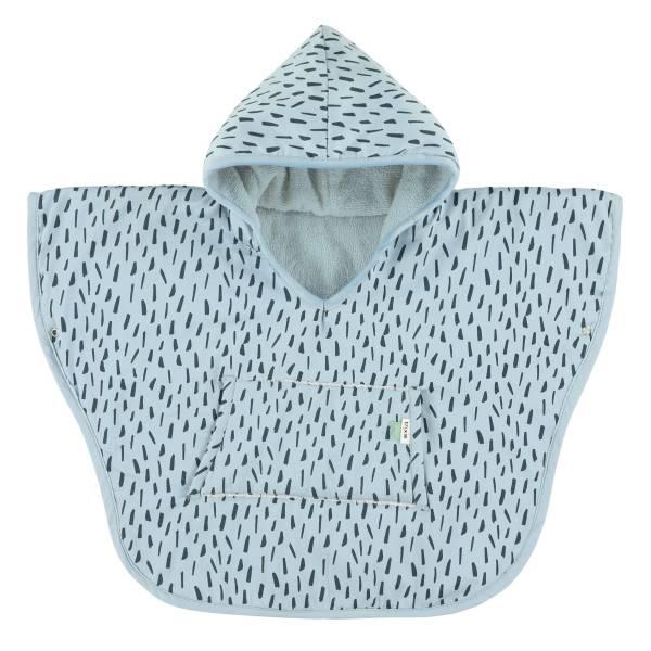 Trixie有機棉連帽斗篷(1-2Y) 藍色森林