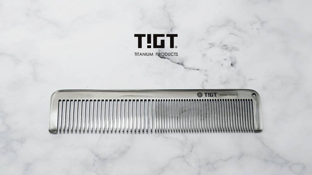 TIGT - 鈦楖梳篦 - 亮銀色 一支裝