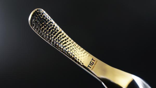 TIGT - 鈦錘勺 <鈦銀色> 一支裝 TIGT 鈦金屬 鈦錘勺 鈦湯匙 勺子 石紋色 健康 無毒