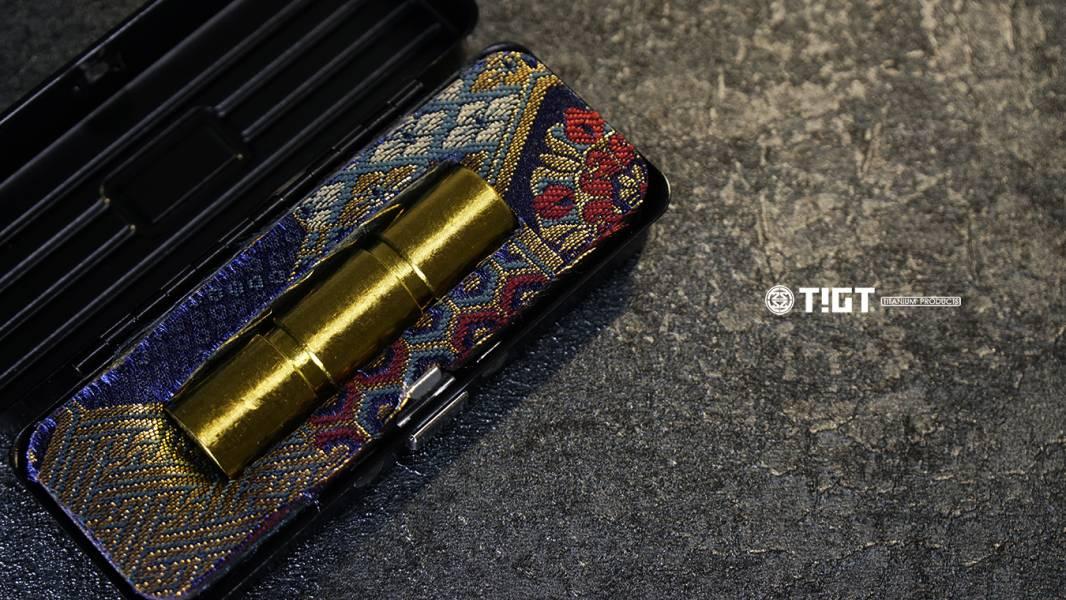 TIGT- 鈦印新章 - 印相天壑 - 鈦合金版本 18mm 圓章 - 附黑色鐵盒一只 TIGT 鈦極印 鈦金屬 鈦印章 鈦 圓章 銀行開戶專用