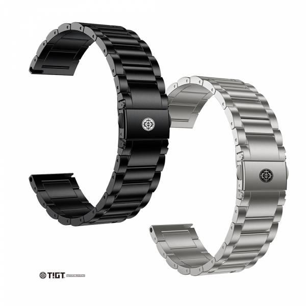 TIGT - 鈦金屬錶帶 + 鈦金屬錶扣 22mm 通用 - 黑色 PVD 與 銀灰色版本 鈦錶帶;22mm錶帶;通用型錶帶
