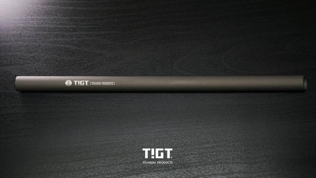 TIGT- 鈦吸管 -微弧烏黑粗吸管 外徑12mm,珍奶專用<1mm壁厚斜角版> 一支裝 (附攜帶布套及吸管刷) TIGT 鈦金屬 限塑 鈦吸管 吸管 環保 藍藍漸層 健康 無毒