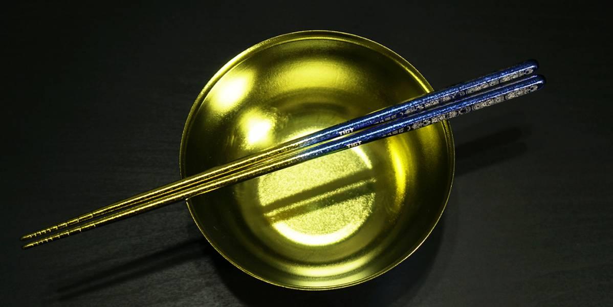 TIGT-鈦天箸-鎏金版本-全色階藍金<一雙裝> 限塑 鈦金屬 環保 一體成型
