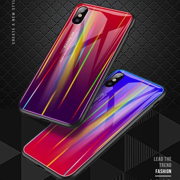 iPhone XS/Max/XR/X/8/7/6/Plus 極光漸變玻璃背板手機殼 極光漸變玻璃背板手機殼,極光漸變,極光,漸變,手機殼,手機保護殼,手機保護套,鋼化玻璃