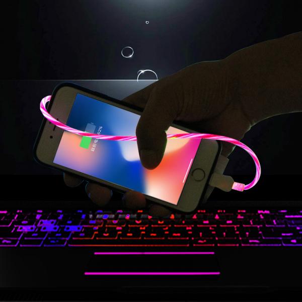 流光傳輸線 30cm 蘋果Lightning / 安卓Micro USB / Type-C 流光傳輸線,30cm,蘋果Lightning,安卓Micro USB,Type-C,傳輸線,led,充電線
