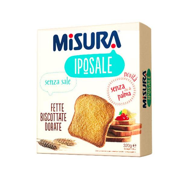 MISURA低鈉配方香烤吐司片-全素