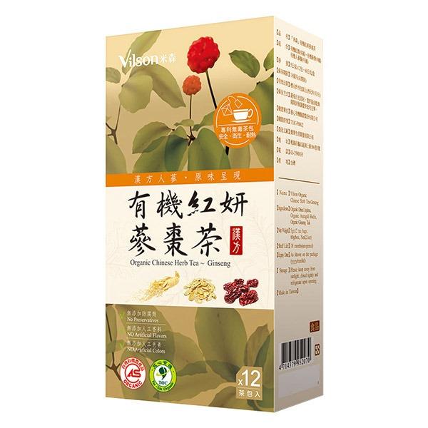 米森有機紅妍蔘棗茶/6G*12包-全素