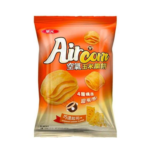 華元Air Corn空氣玉米脆餅81g(巧達起司)-奶素