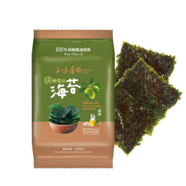 三味屋100%純橄欖油海苔單包*12入/箱-全素