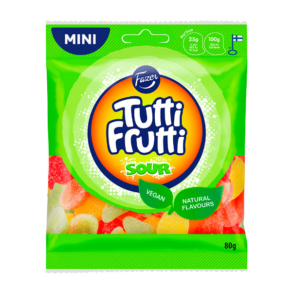 Tutti Frutti水果造型酸軟糖80g-全素